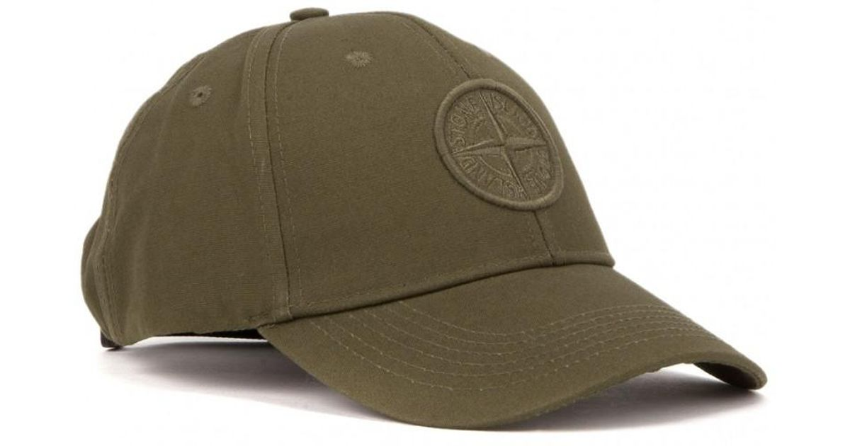 314afe3909c Lyst - Stone Island Tonal Logo Cap in Green for Men