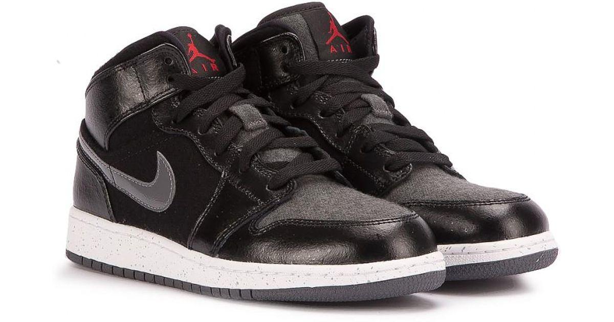 outlet store sale e7b67 9f4ef Nike Air Jordan 1 Mid Prem Bg in Black for Men - Lyst