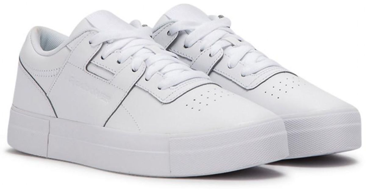 f3e02e2e71aa8 Reebok Wmns Workout Lo Fvs in White for Men - Lyst