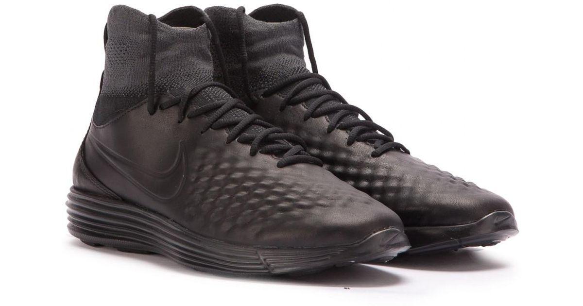 50a6ab8a1f1 Nike Nike Lunar Magista Ii Flyknit in Black for Men - Lyst