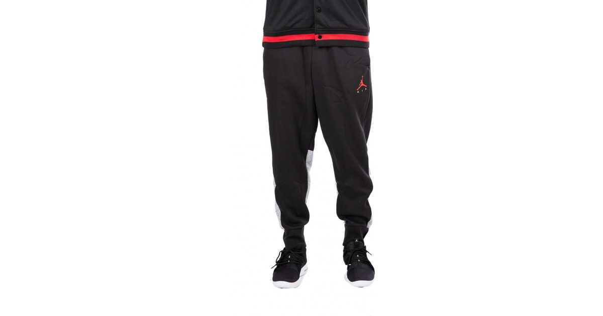 83cf1a2152d Nike Nike Air Jordan Flight Fleece Cement Pants in Black for Men - Lyst