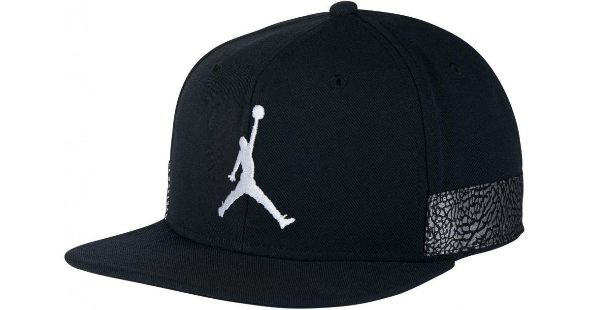 7ff8645f7ae6ef Lyst - Nike Nike Air Jordan 3 Jumpman Pro Cap in Black for Men