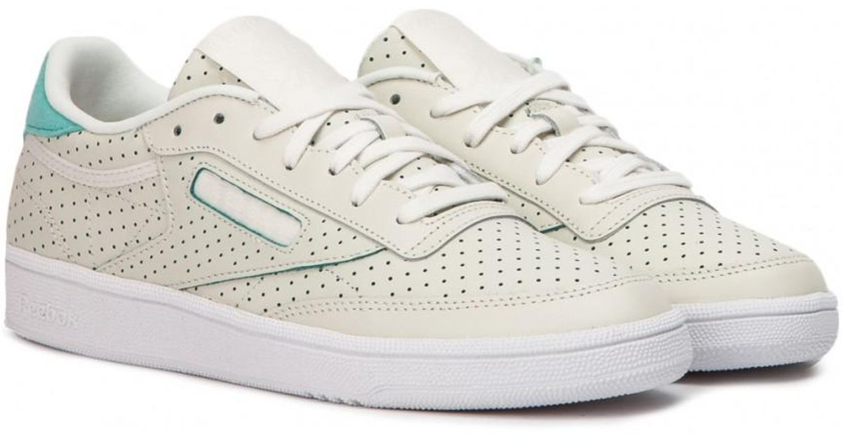 6fc7f7fae82c3 Lyst - Reebok Club C 85 Popped Perf W in White for Men