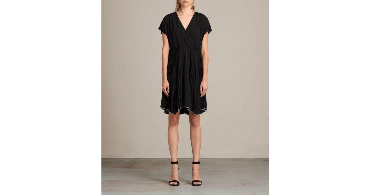Lyst Allsaints Myer Dress In Black