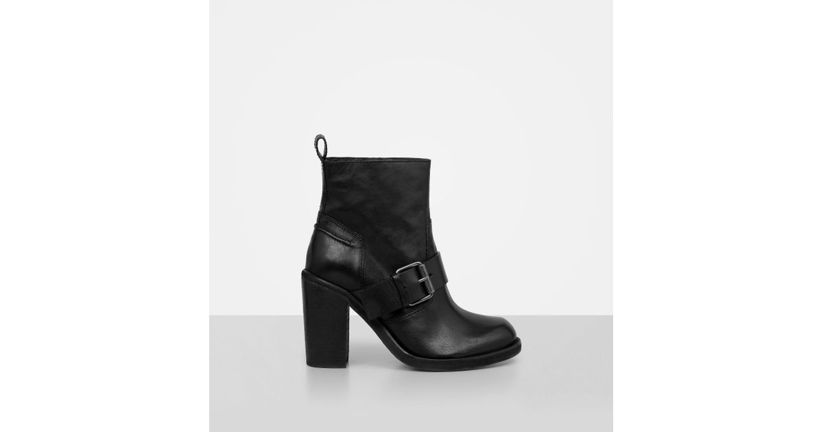 07e4bfa50a44d6 Lyst - AllSaints Zadie Leather Ankle Boots in Black