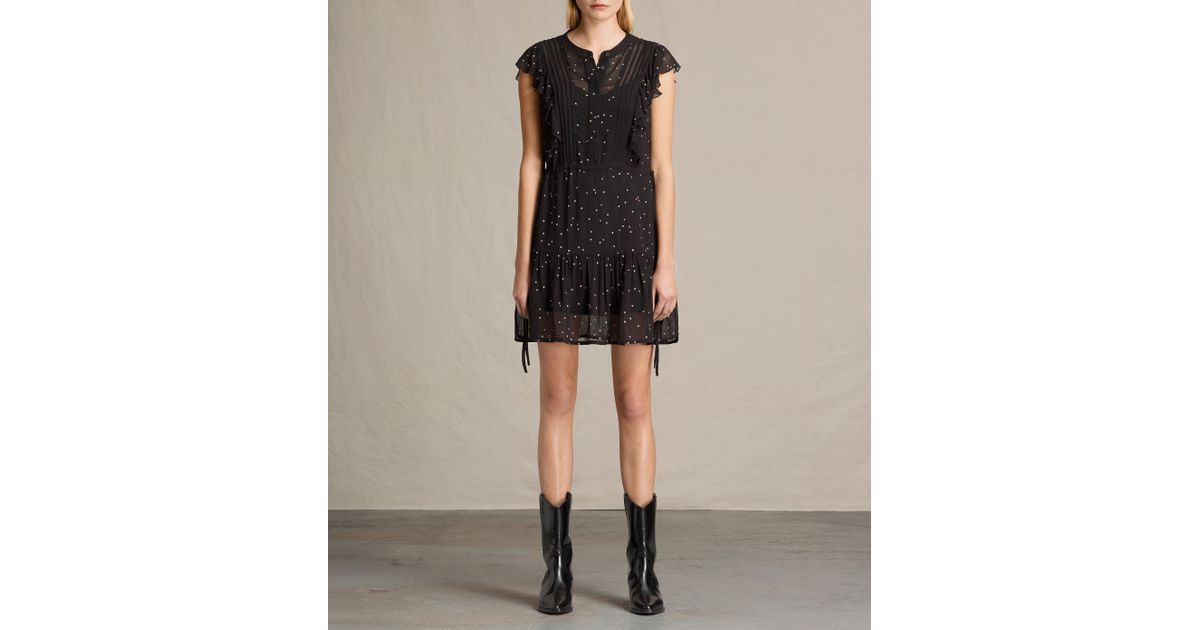 Allsaints Star Embroidered Sleeveless Dress Usa Usa In