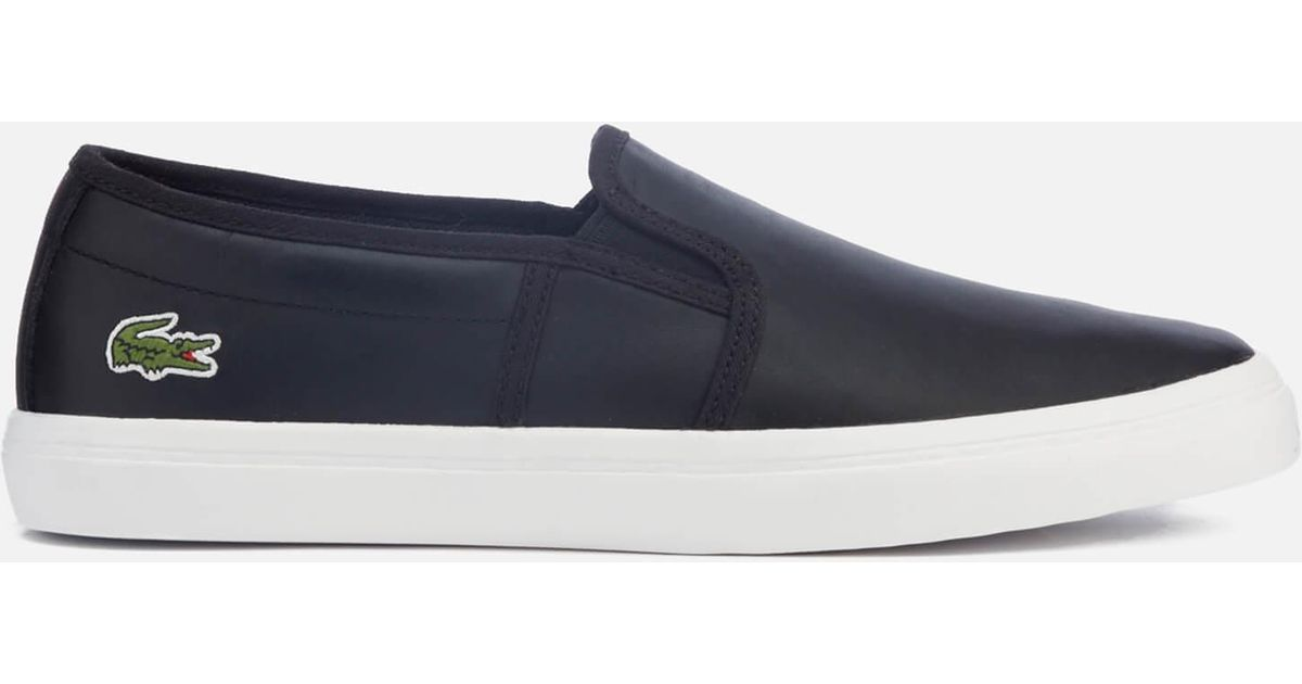 0ae0b2ae22708 Lyst - Lacoste Women s Gazon Bl 1 Slip-on Trainers in Black