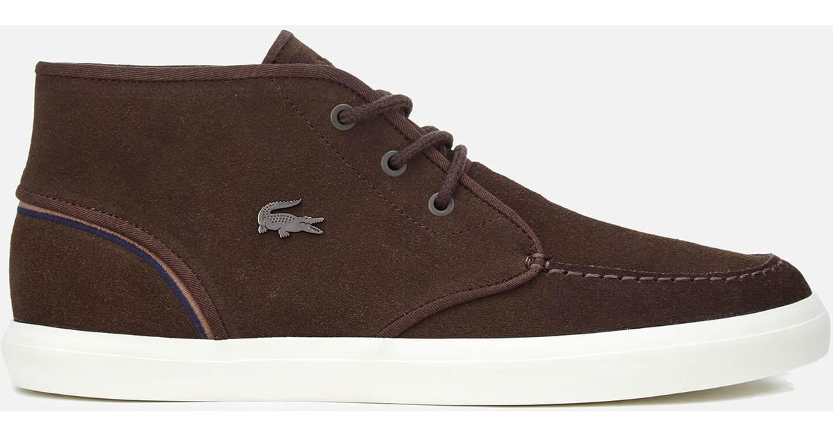ef588e529e13fb Lyst - Lacoste Men s Sevrin Mid 317 1 Chukka Boots in Brown for Men