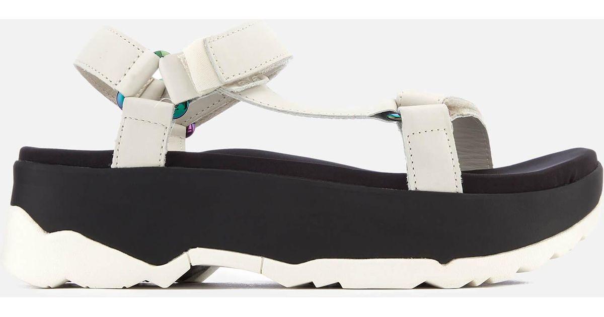 5fd4cc86911 Lyst - Teva Zamora Universal Flatform Sandals in White