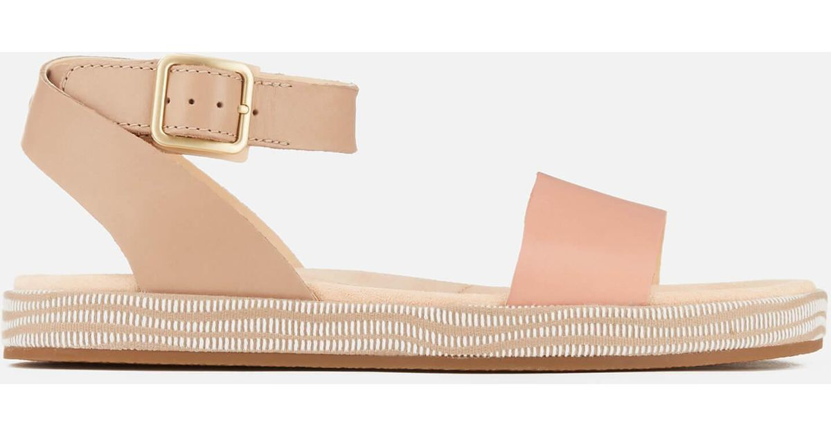 949a0869ac7 Clarks Botanic Ivy Double Strap Flat Sandals in Pink - Lyst