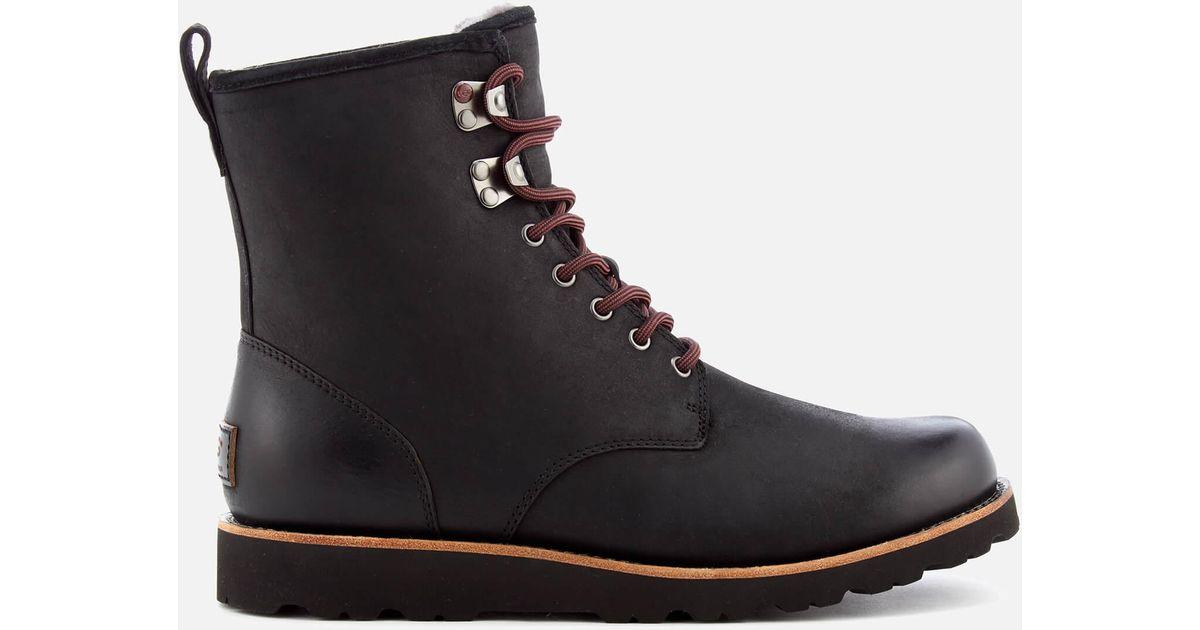 1eec85479e518f Lyst - UGG Men s Hannen Tl Waterproof Leather Lace Up Boots in Black for Men