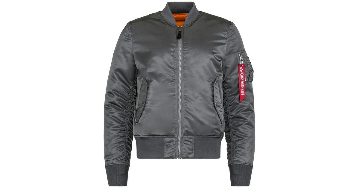 96de023b6ec Lyst - Alpha Industries Ma-1 Slim Fit european Fit in Gray for Men
