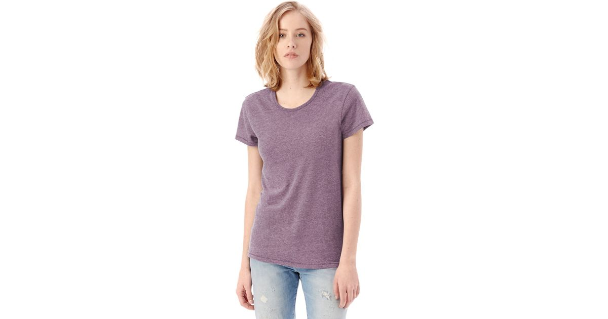 alternative apparel keepsake vintage jersey t shirt in