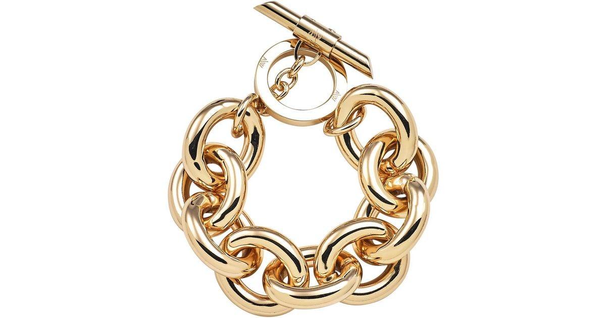 Lyst Amanda Wakeley Chunky Gold Bracelet In Metallic Save 9 26640926640927
