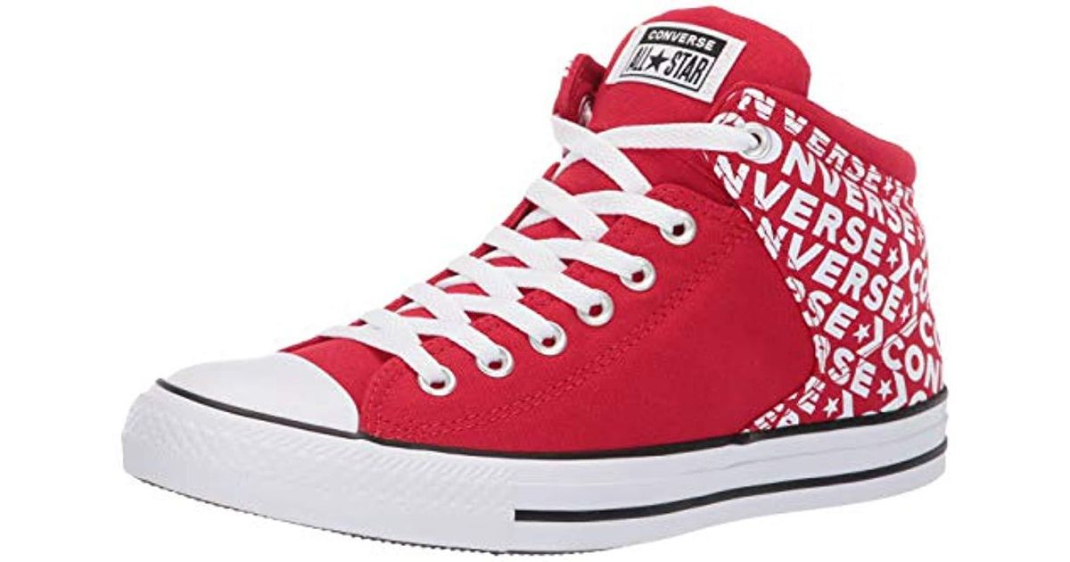 e015442af3e7d Converse Unisex Chuck Taylor All Star Street Wordmark High Top Sneaker in  Red for Men - Save 18% - Lyst