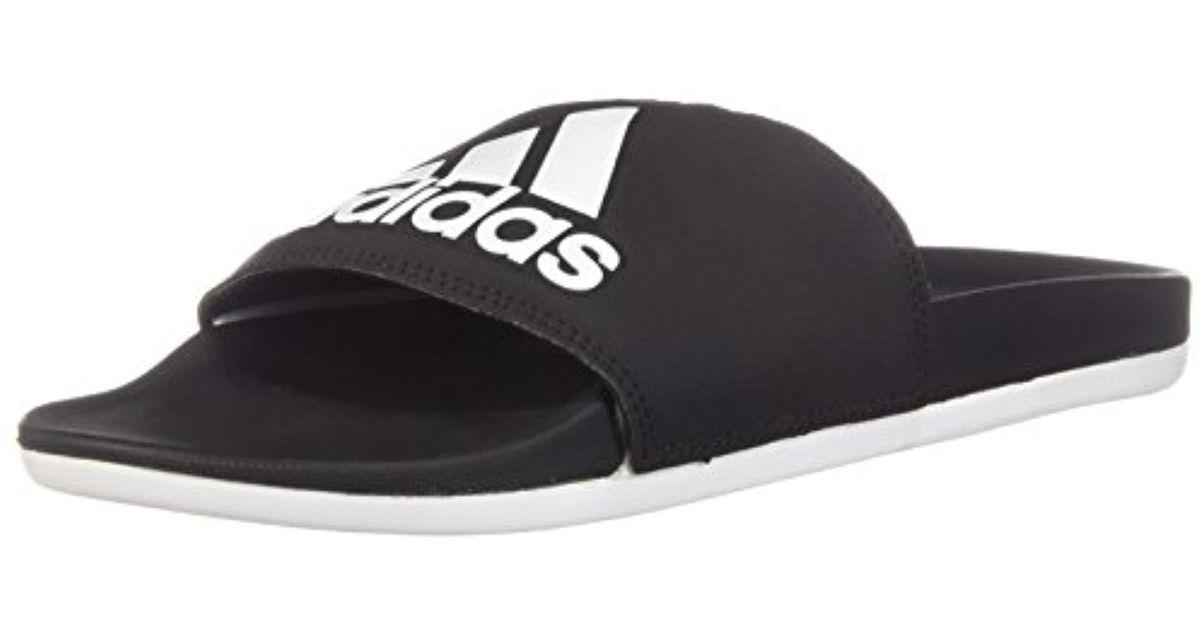 f21668449230 Lyst - adidas Adilette Cf+ Logo W Slide Sandal in Black