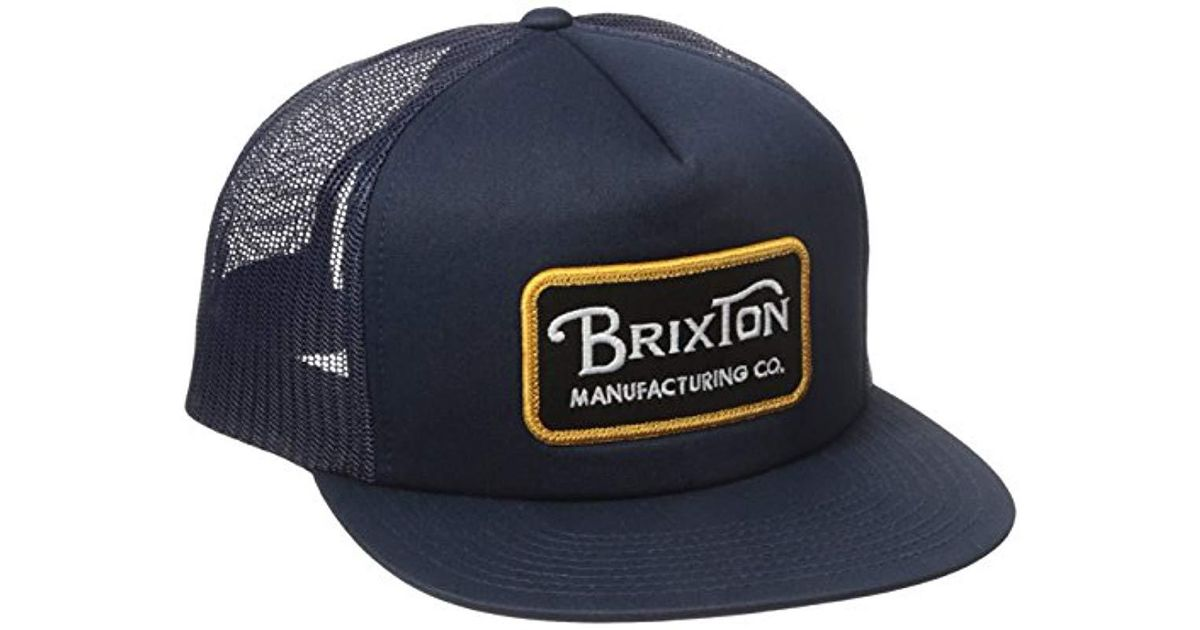 5f55b353231c Lyst - Brixton Grade High Profile Adjustable Mesh Hat in Blue for Men