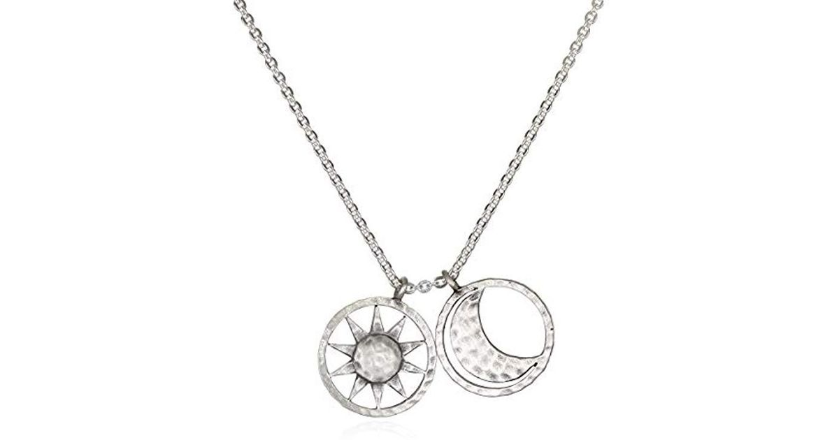 529bc96682 Satya Jewelry Gold Sun And Moon Charm Pendant Necklace 18-inch in Metallic  - Lyst