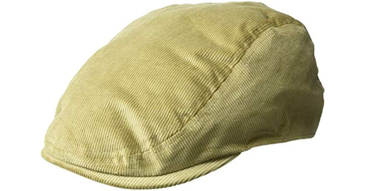 04a19329ff0 Lyst - Kangol Cord Flat Ivy Cap Hat in Natural for Men - Save 4%