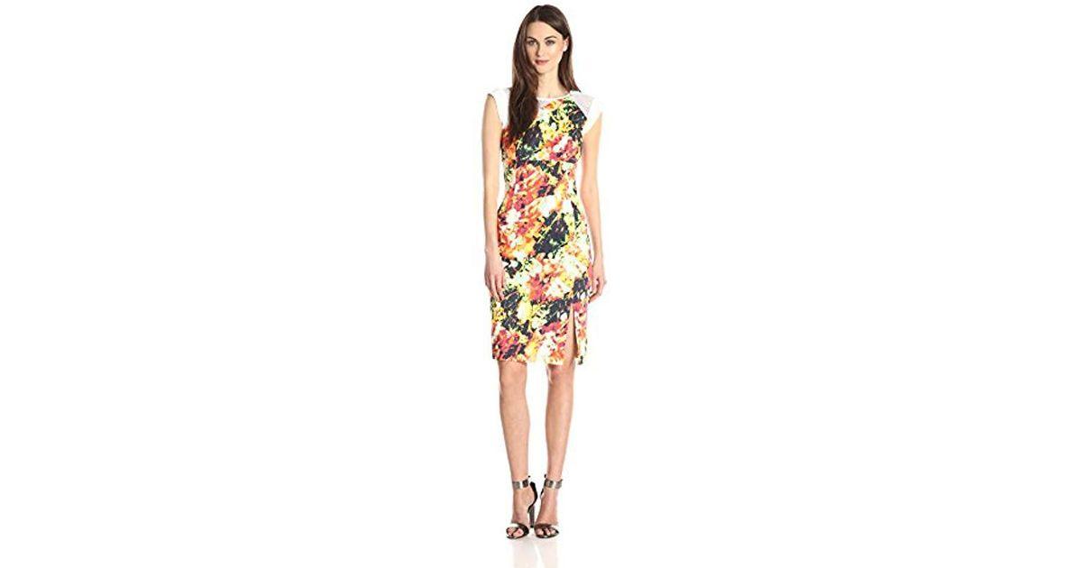 5c6d9b79 Black Halo Sleeveless Floral-print Sheath Dress - Lyst