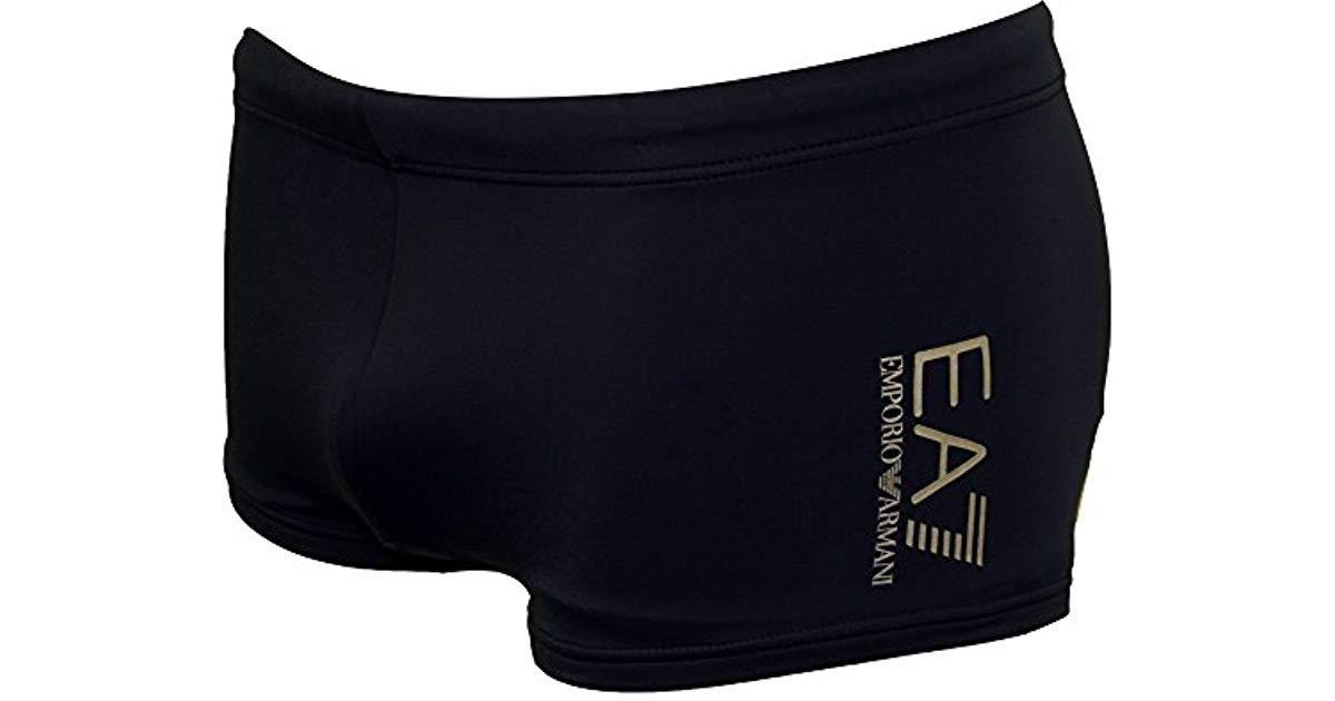 1bdf052a7f Emporio Armani Sea World Swimwear Core Trunks in Blue for Men - Lyst
