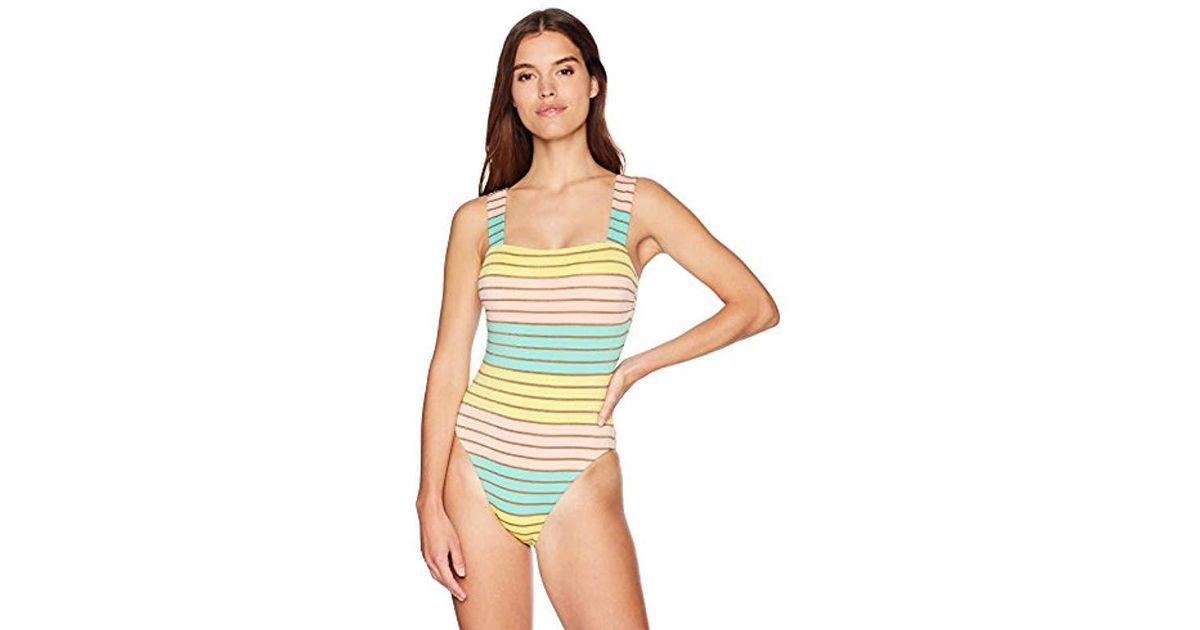 Trina Turk Womens Lattice Back Strappy Front One Piece Swimsuit