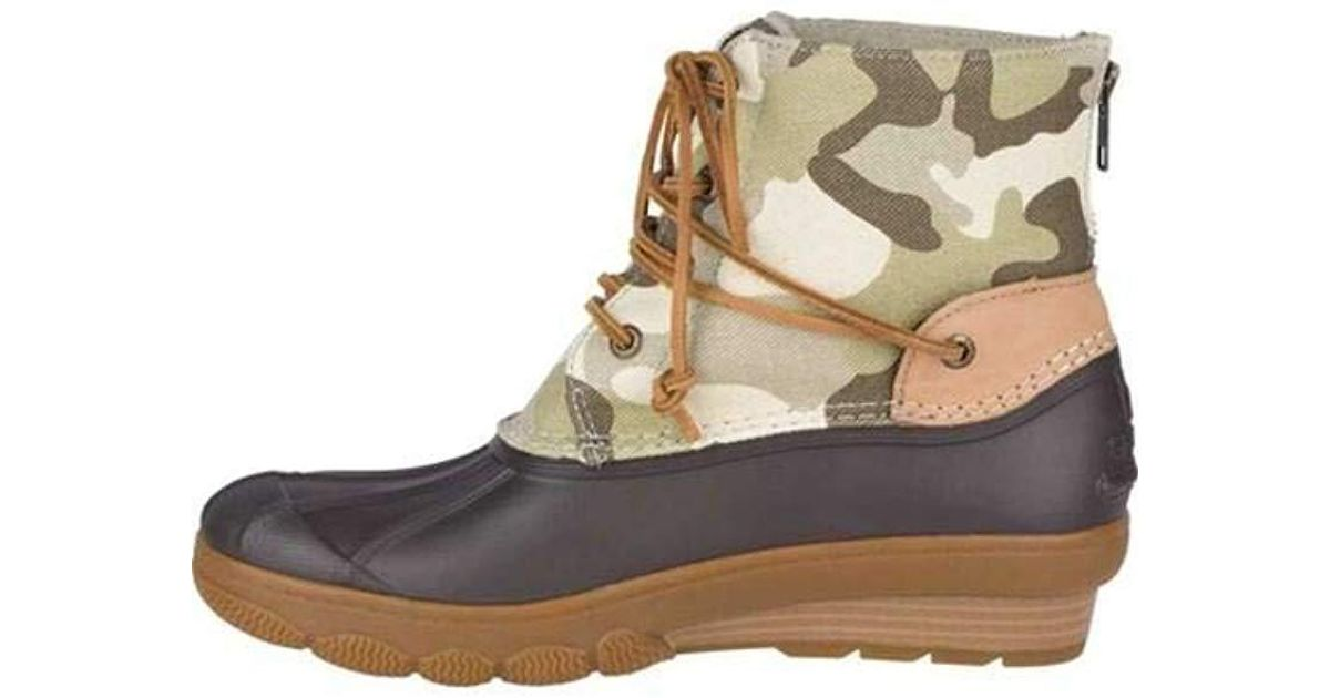 7e32bc991e7 Lyst - Sperry Top-Sider Saltwater Wedge Tide Wool Rain Boot