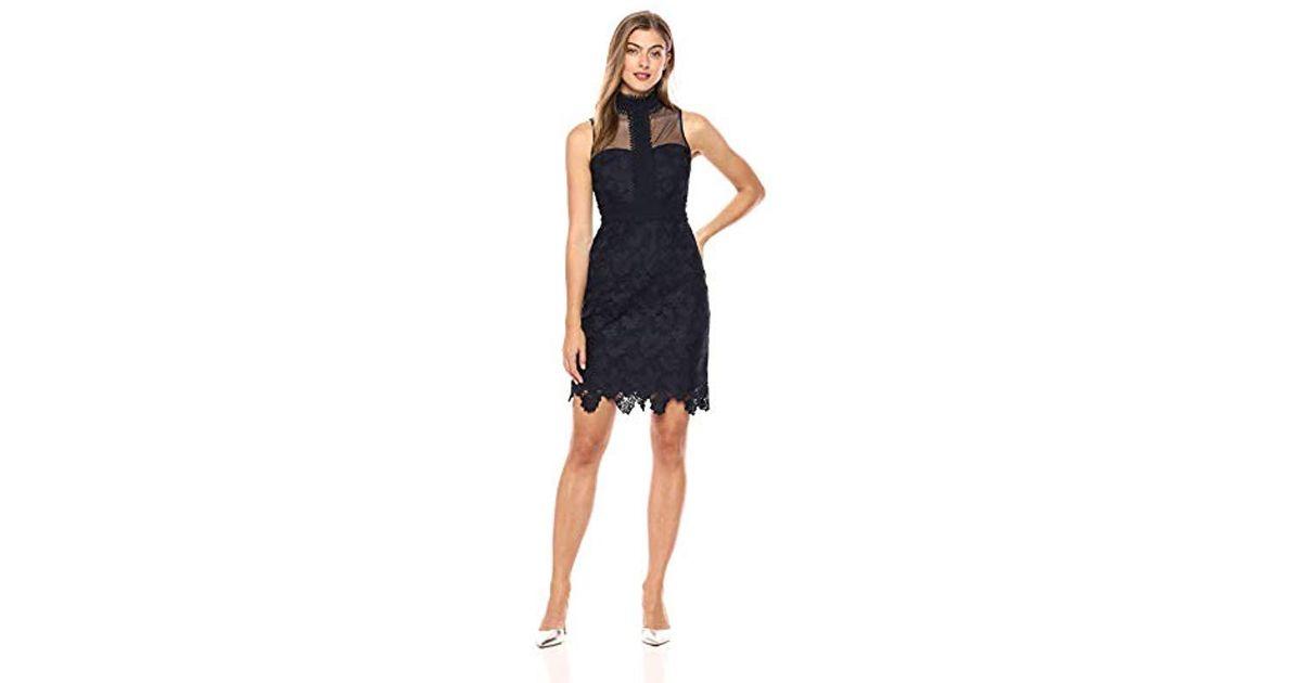 c495ade6 Nanette Nanette Lepore Slvls Lace Sheath Dress W/mock Nk in Blue - Lyst