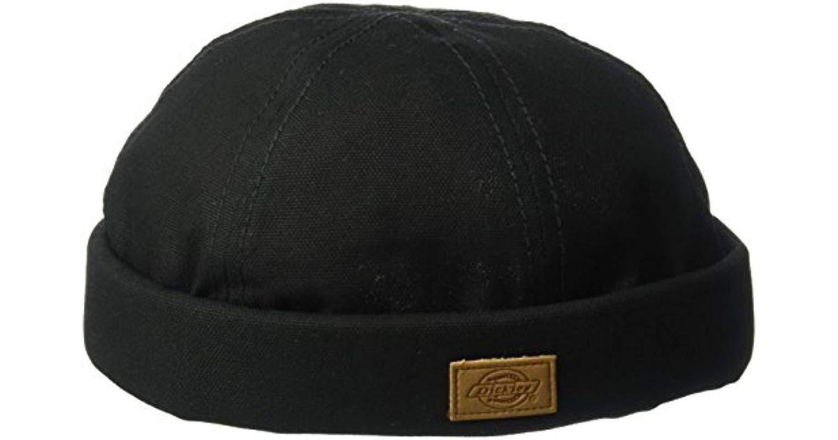 feaedaff Dickies Canvas Docker Cap in Black for Men - Lyst