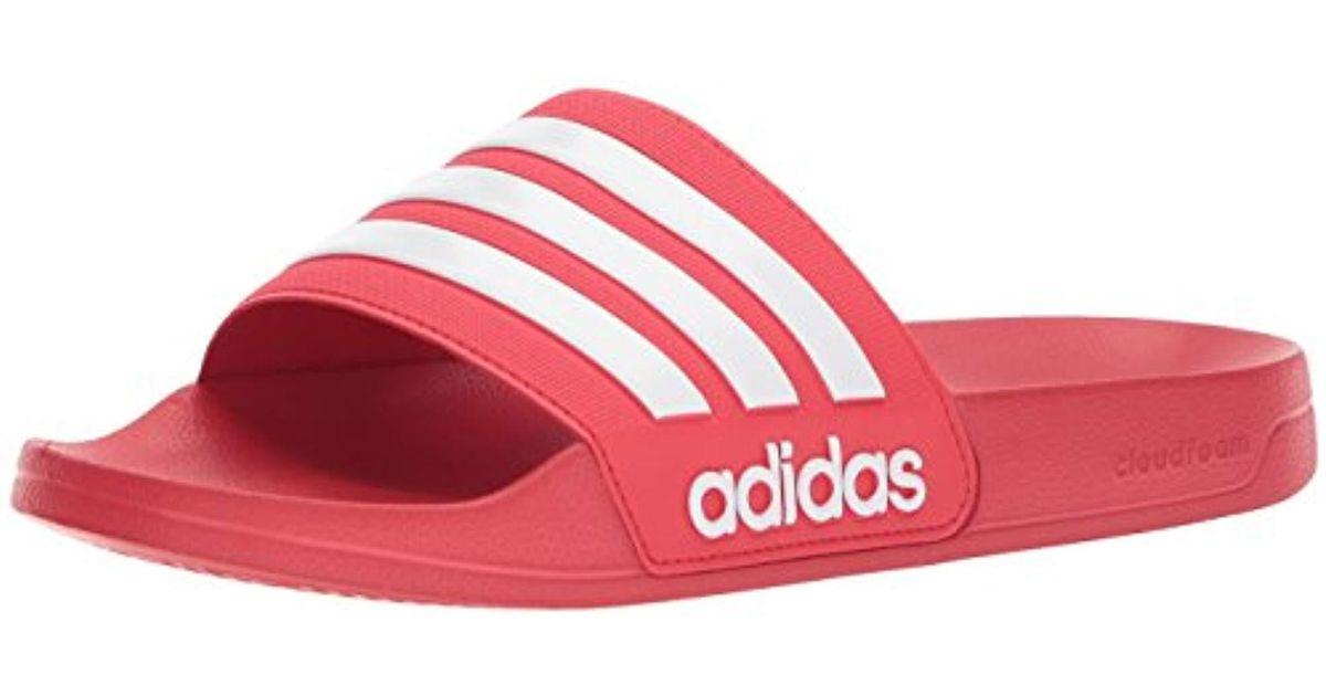 0016bd564eac Lyst - adidas Originals Adilette Shower Slide Sandal in Red for Men