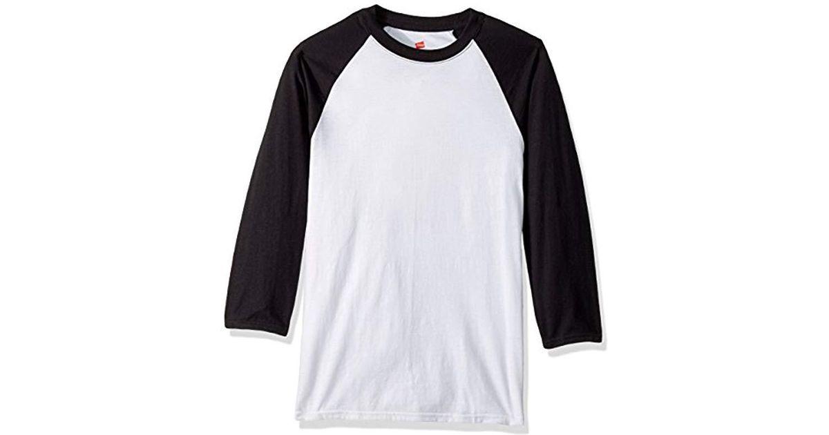 0ba065d2 Lyst - Hanes X-temp Raglan Baseball Tee in White for Men