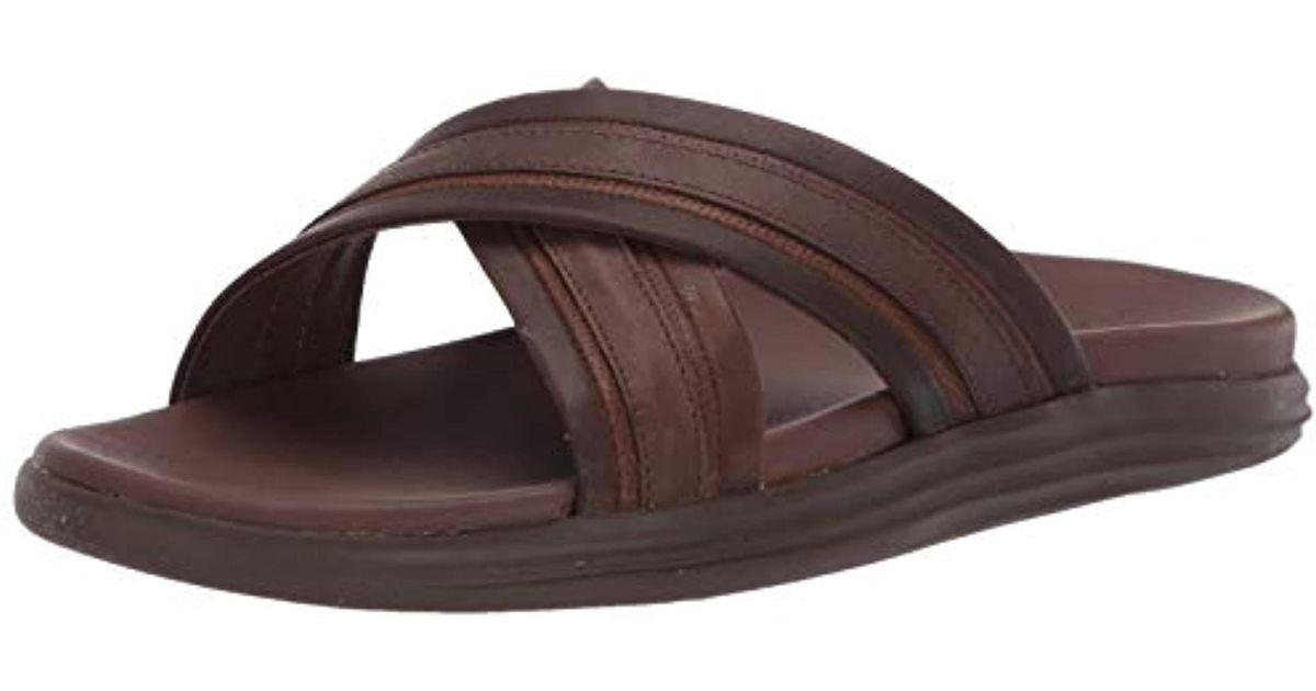 d903ca3058f Lyst - Sperry Top-Sider Gold Amalfi Cross Strap Slide in Brown for Men -  Save 5%