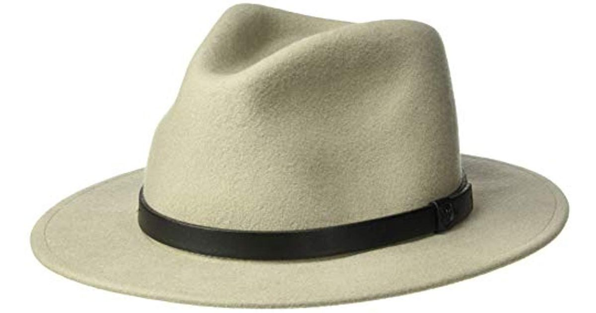 9ff9c7f3df2a8e Brixton Messer Medium Brim Felt Fedora Hat in Gray for Men - Lyst