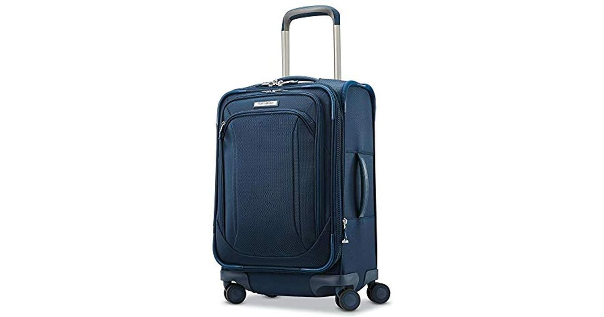 099026fc2 Samsonite Lineate Expandable Softside Carry On With Spinner Wheels, Evening  Teal for Men - Lyst