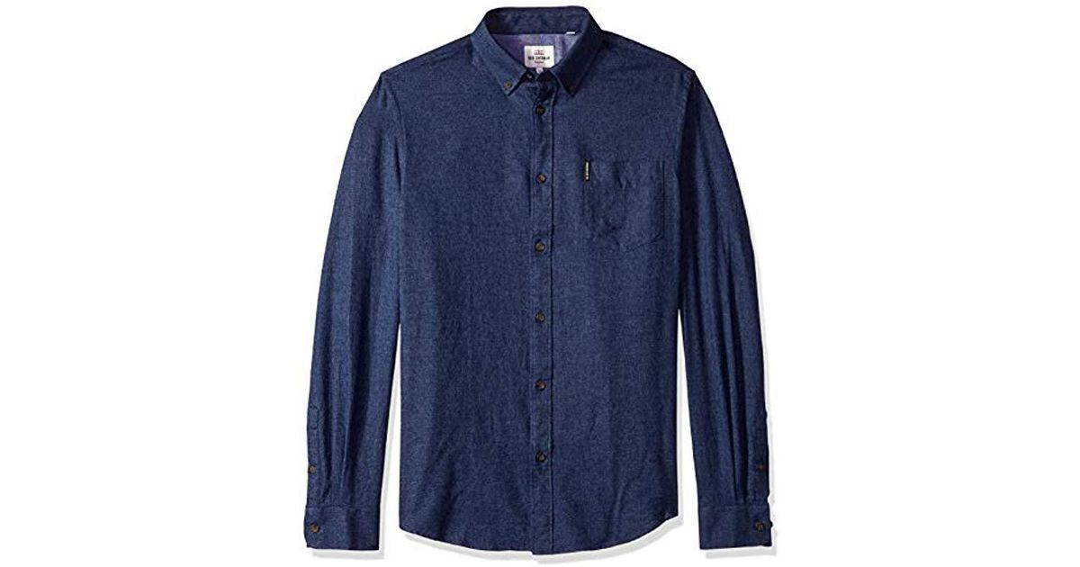 77c46e1e62 Lyst - Ben Sherman Twisted Brushed Shirt in Blue for Men