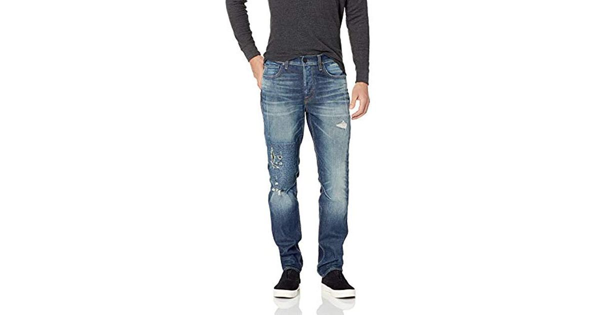 4ffcbf0d65d Lyst - Hudson Jeans Sartor Relaxed Skinny With Exposed Ss Zippers in Blue  for Men