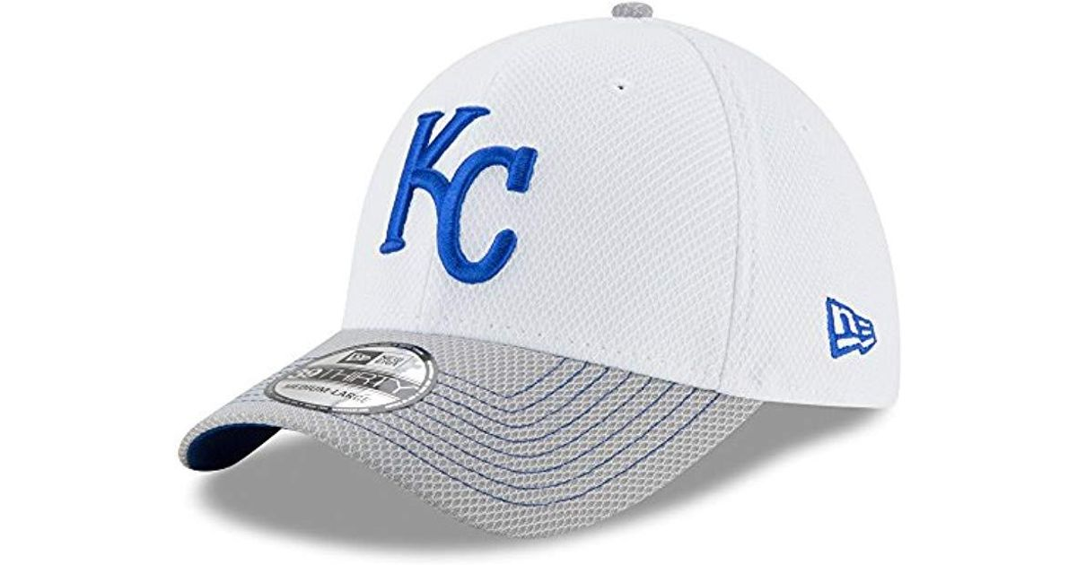 save off 0a2ad eb8a9 ... lyst ktz kansas city royals white gray two tone rapid 39thirty flex hat  in white for