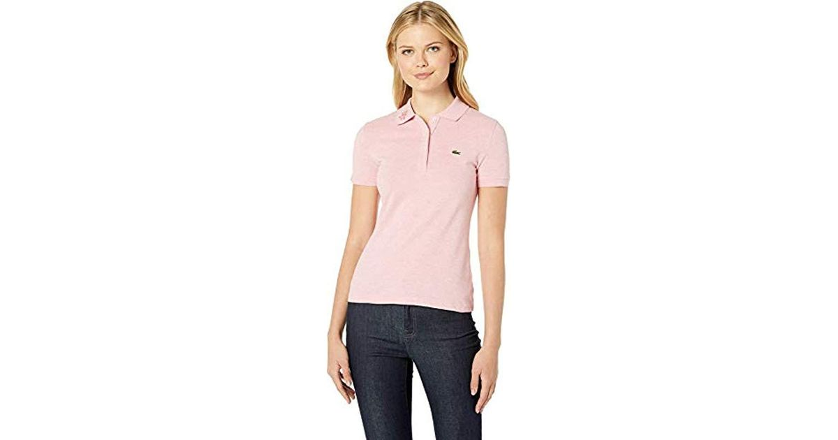 478fef712 Lyst - Lacoste S s Slim Fit Keith Haring Semi Fancy Polo in Pink