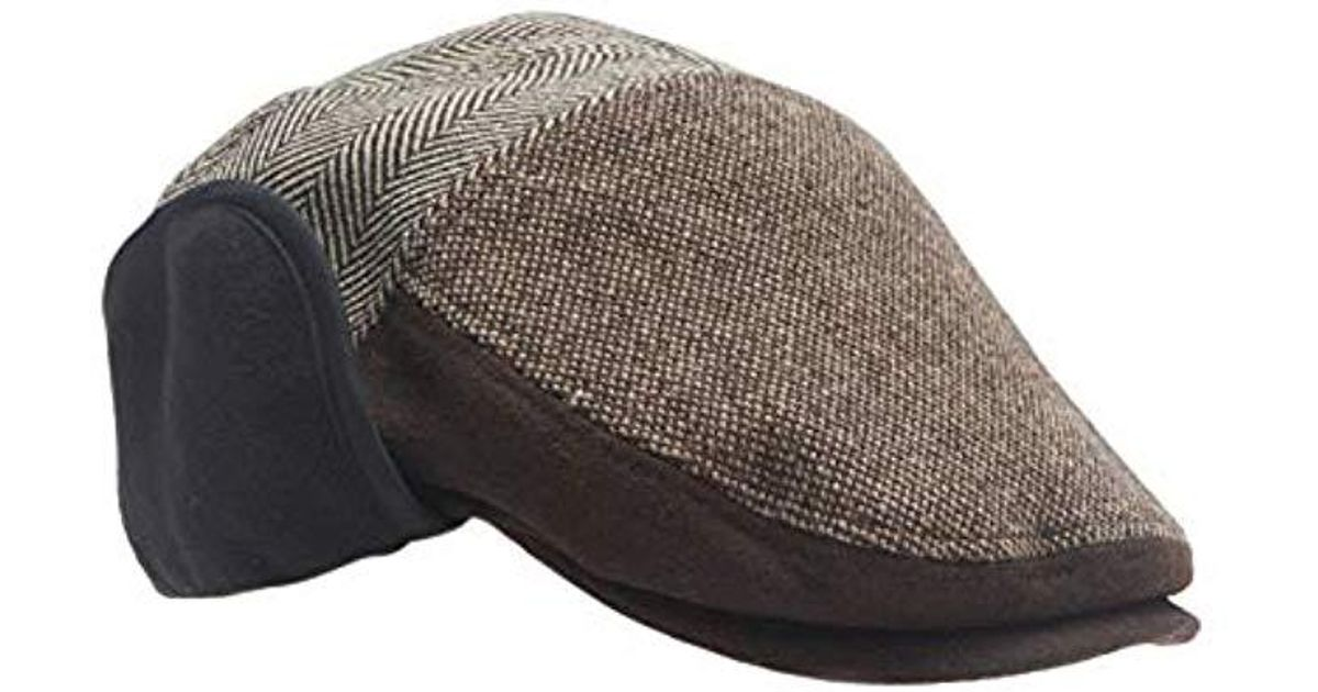8794583e7de Lyst - Dockers Ivy Newsboy Hat With Earflaps in Brown for Men