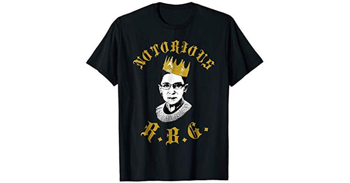 c71b0cfa Lyst - Polo Ralph Lauren Notorious Rbg Tshirt Funny Ruth Bader Ginsburg T  Shirt in Black for Men