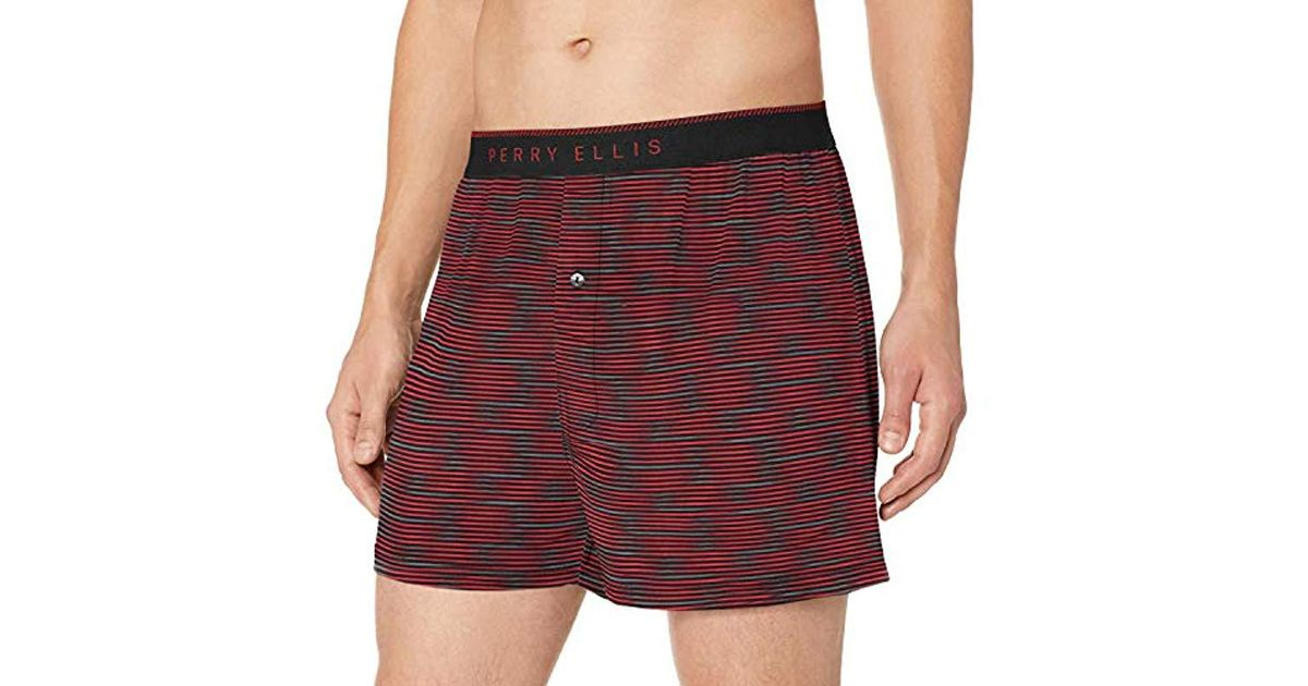a89c6bc8c8e1fd Perry Ellis Spacedye Luxe Boxer Short in Red for Men - Lyst