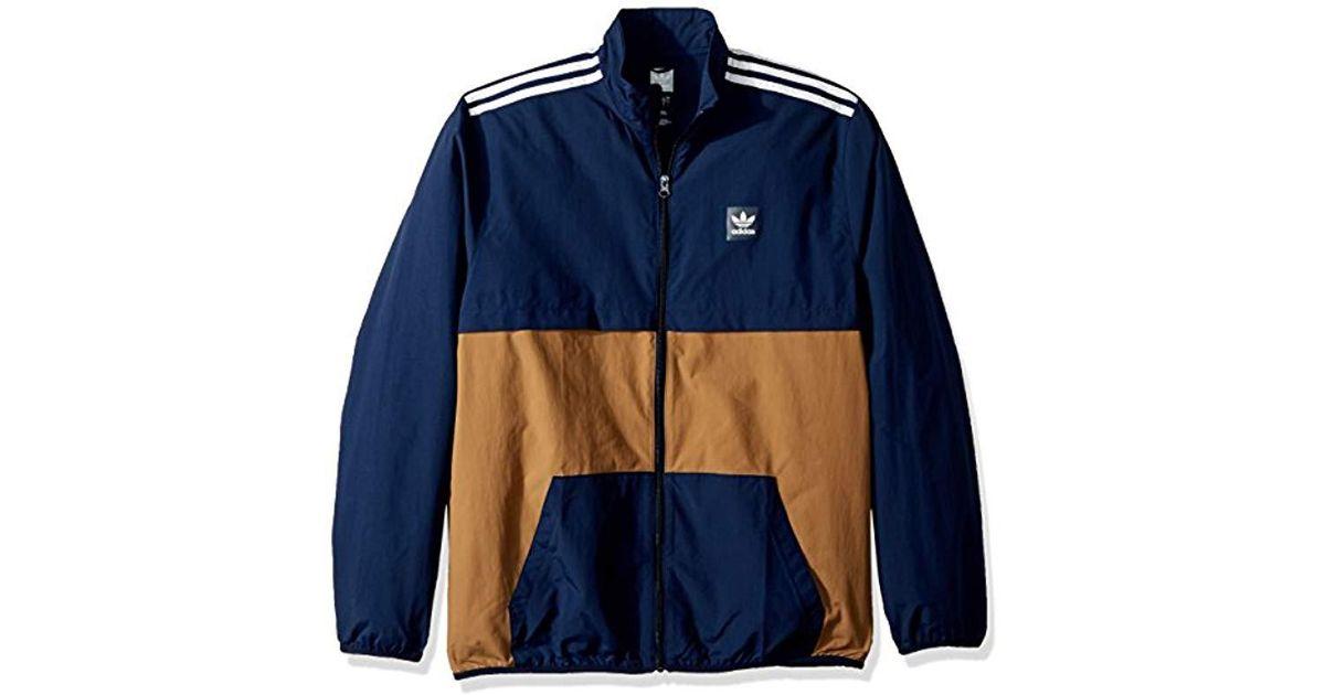038096b47bc adidas Originals Skateboarding Class Action Jacket in Blue for Men - Lyst