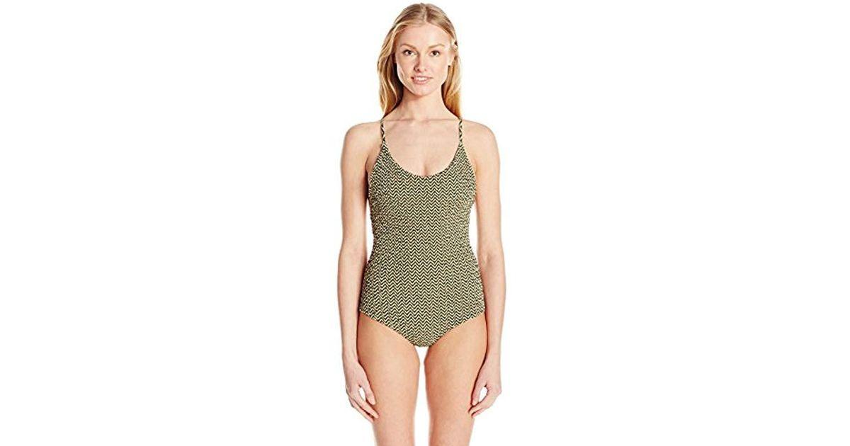 615e6cbab51cd Lyst - Tori Praver Swimwear Honolua One Piece Swimsuit in Green