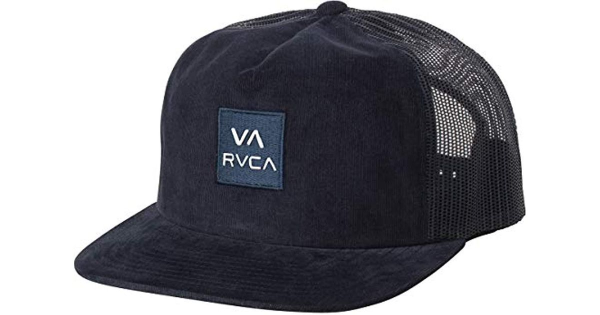 3a6c9dfadc513 Lyst - RVCA Va All The Way Mesh Back Trucker Hat