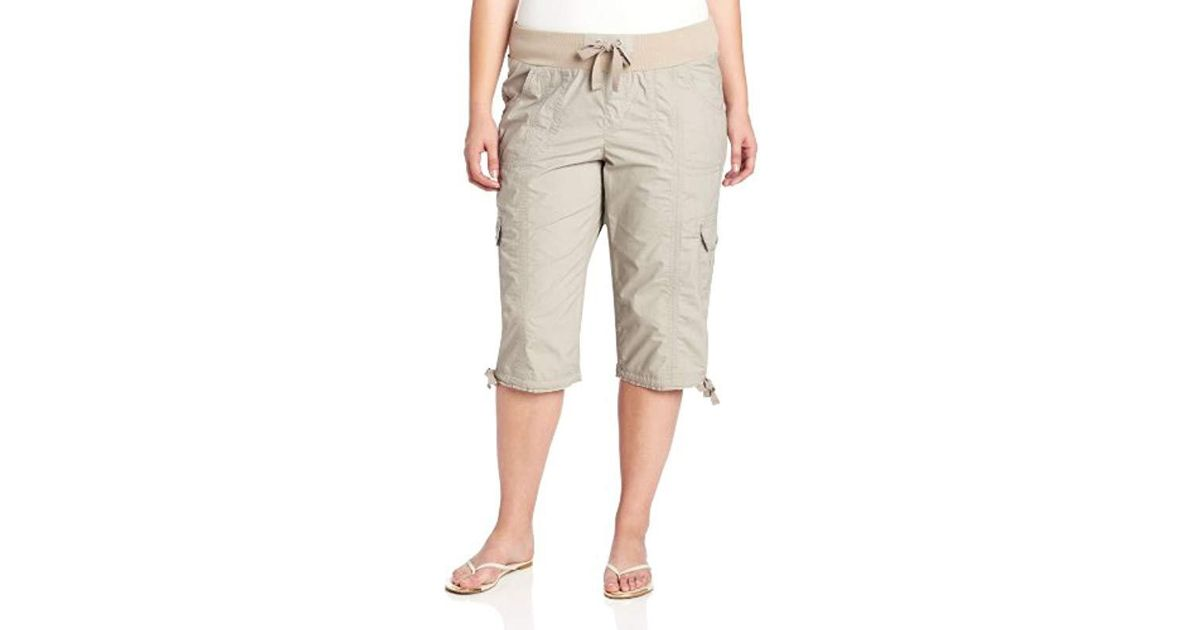 8c5dcdeec601b Calvin Klein - Multicolor Performance Plus Size Rib Waist & Cargo Pocket  Crop Capri - Lyst