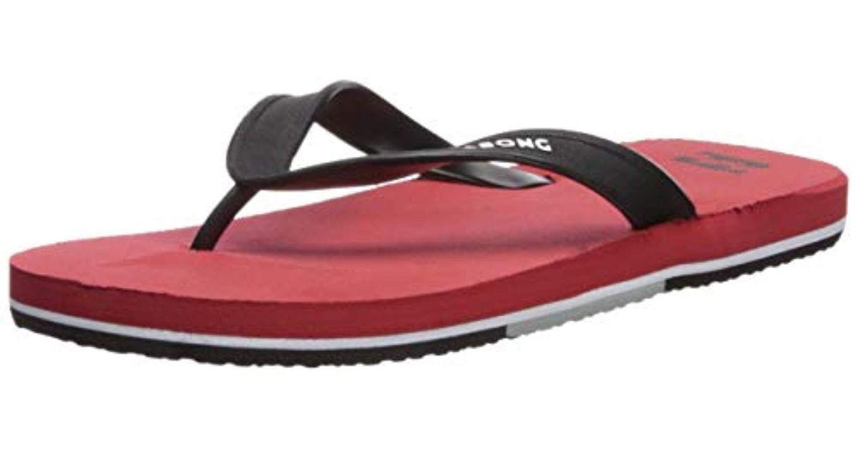 590183211 Lyst - Billabong All Day Flip-flop in Red for Men