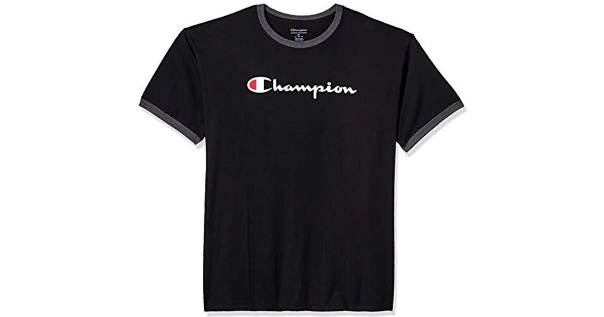 fd608260 Lyst - Champion Classic Jersey Graphic Ringer T-shirt in Black for Men