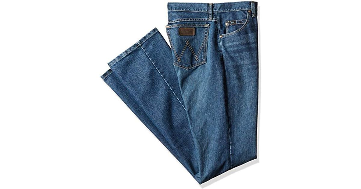 3ac4eb38 Lyst - Wrangler Tall 20x Tall Cool Vantage Competition Slim Fit Storm Blue  Jean in Blue for Men