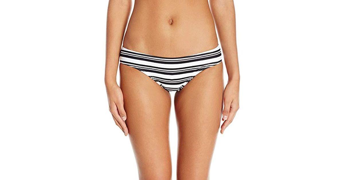 5561cd9ce4 Lyst - MINKPINK Show Your Tripes Boyleg Bikini Bottom in Black