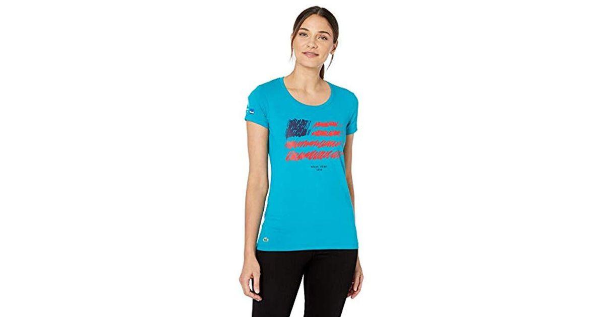 5e870fd09 Lyst - Lacoste Sport Miami Open Edition Americana T-shirt in Blue